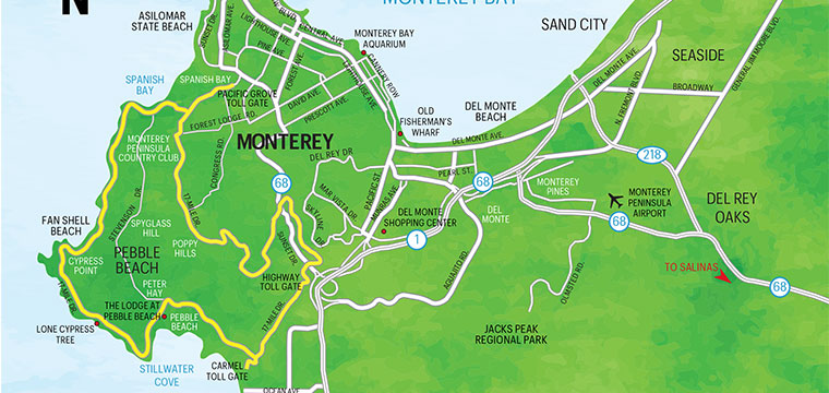 Del Monte Shopping Center Map on